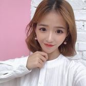 韓國少女三色毛球耳釘氣質可愛簡約鏤空愛心形耳環無耳洞耳夾 618好康又一發