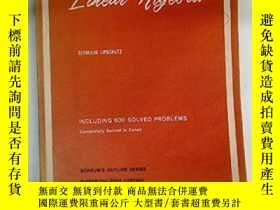 二手書博民逛書店Schaum s罕見Outline Of Theory And Problems Of ar AlgebraY