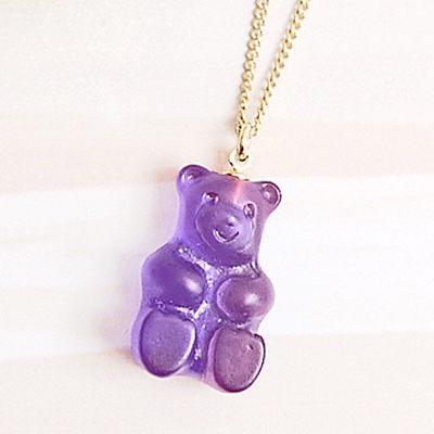 〔APM飾品〕日本Gargle 美妙滋味熊熊軟糖項鍊 (蔓越梅口味) (檸檬口味) (葡萄口味)