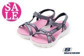 SKECHERS 童涼鞋 Q彈觸感 休閒風格 運動涼鞋P8281#粉紅 零碼出清 ◆OSOME奧森童鞋