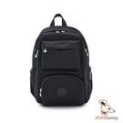 B.S.D.S冰山袋鼠 - 時光旅人 - 知性大容量附插袋後背包 - 黑色【B060-2K】