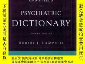 二手書博民逛書店Campbell s罕見Psychiatric Dictiona