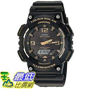 [美國直購] 手錶 Casio Mens Tough Solar Quartz Stainless Steel and Resin Automatic Watch Black AQ-S810W-1A3VCF