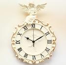 歐式天使掛鐘 復古個性掛表 田園藝術鐘表 客廳臥室 超靜音壁鐘 小山好物