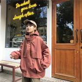 工裝春秋季新款韓版學生女寬松連帽純色棒球服BF原宿風夾克外套潮