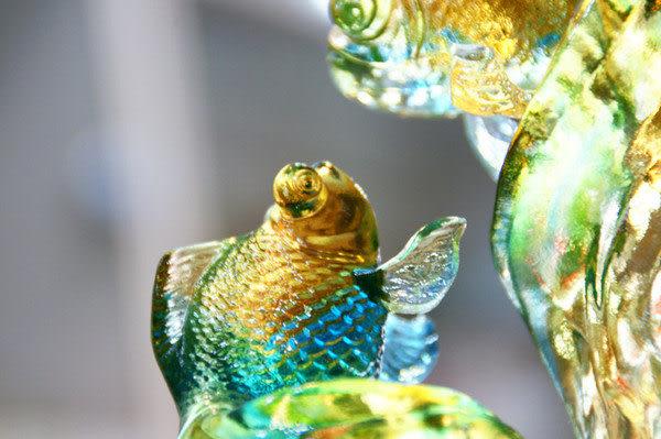 【鹿港窯】居家開運琉璃珍藏【魚水情深 】附精美包裝◆附古法制作珍藏保證卡◆免運費送到家