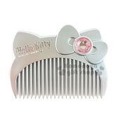 〔小禮堂〕Hello Kitty  平扁梳子《銀大臉盒裝》8021660 27434