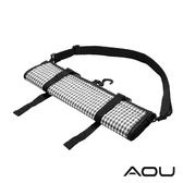 AOU YKK配件 台灣製 可斜揹 捲式衣物收納袋 衣物袋(黑格)66-031D9