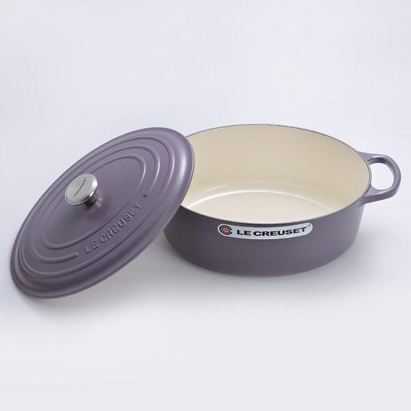 Le Creuset 新款橢圓形琺瑯鑄鐵鍋 27cm 4.1L 紫水晶 法國製【Casa More美學生活】
