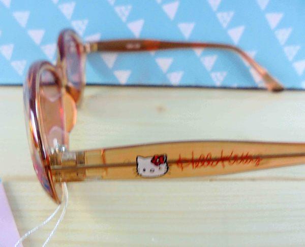 【震撼精品百貨】Hello Kitty 凱蒂貓~KITTY造型眼鏡-太陽橘