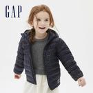 Gap女幼童 可愛印花絎縫式拉鍊連帽外套 593169-海軍藍