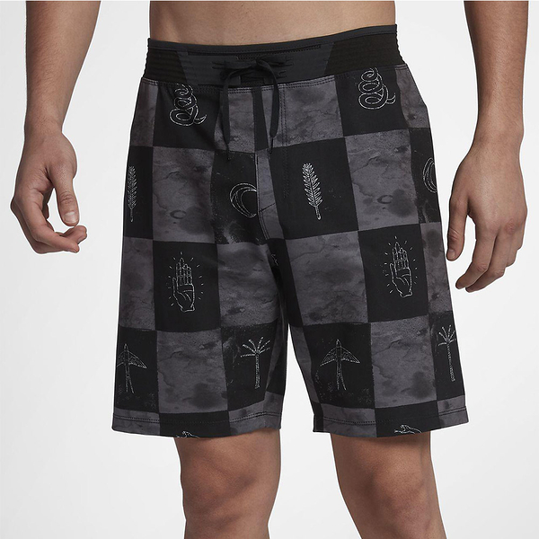 Hurley PHANTOM HYPERWEAVE 3.0 SURFCHECK 18 海灘褲-PHANTOM-黑(男)