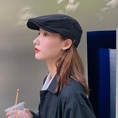 帽子女復古反戴前進帽韓版潮日系百搭英倫貝雷帽畫家帽ins鴨舌帽7 幸福第一站