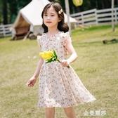 童裝女童洋裝夏新款夏裝裙子夏季洋氣小女孩雪紡公主裙 極簡雜貨