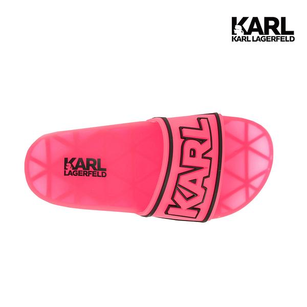 【KARL LAGERFELD】KONDO KARL防水拖鞋-粉 (原廠公司貨)