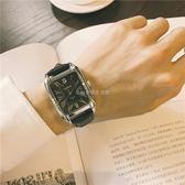 手錶男學生潮流大氣方形復古皮帶休閒氣質男錶WY 【快速出貨八五折鉅惠】