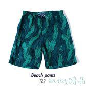 男士印花沙灘褲 寬鬆舒適平角休閒褲