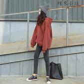 連帽衛衣女冬季加絨純色