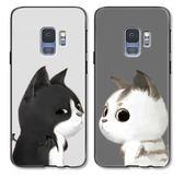 三星 Note9 天使惡魔貓手機殼 S9 Plus 可愛卡通情侶手機套 Galaxy S9 全包防摔男女款保護套