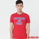【BOBSON】男款涼感印圖上衣(28025-13)