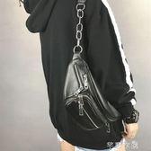 胸包 包包女新款韓版時尚百搭單肩斜跨包個性休閒學院風胸包腰包潮 芊惠衣屋