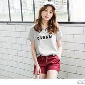 《AB3017》DREAM立體英文字母圖案百搭高含棉橫條T恤.2色 OrangeBear