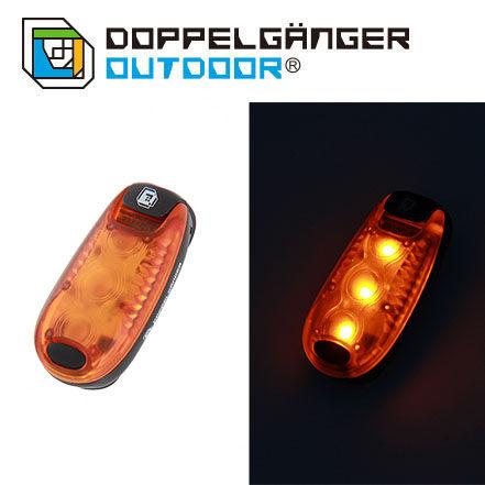 日本 DOPPELGANGER 螢火蟲夜燈 黑/橙 L1-155