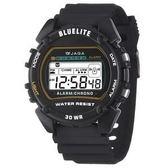 JAGA捷卡 電子錶 防水手錶 冷光 男錶 運動錶 學生錶 軍錶 M175-A 黑