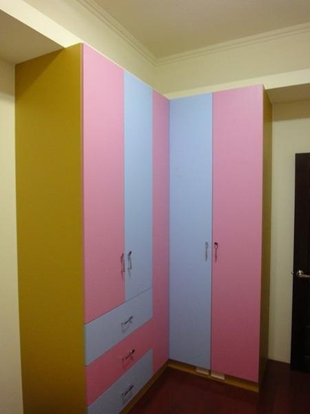 【歐雅系統家具】L型木門雙色衣衣櫥櫃