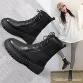馬丁靴女英倫風新款秋冬季加絨棉鞋秋款網紅百搭女鞋靴子短靴 阿卡娜