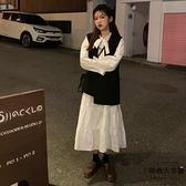 大碼連身裙遮肉洋氣減齡兩件套裝顯瘦秋冬裝【時尚大衣櫥】