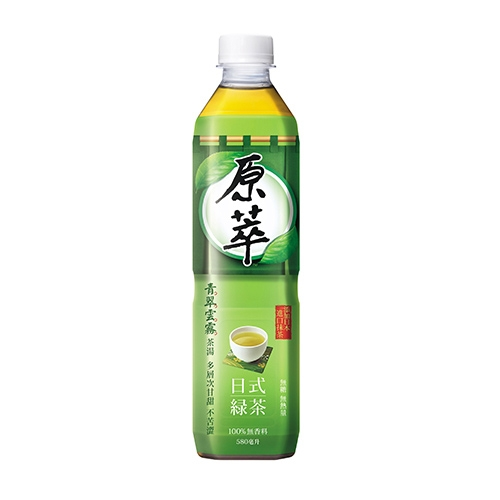 原萃 日式綠茶 無糖 580ml (24入)/箱【康鄰超市】