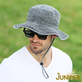 防曬漁夫帽子-全棉戶外抗UV寬邊防潑水超大頭圍牛仔遮陽防風帽J7804 JUNIPER