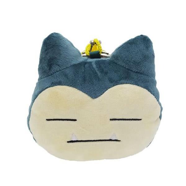 【日本進口正版】口袋怪獸 卡比獸款 大頭造型 掛繩 絨毛 珠扣包 零錢包 神奇寶貝 - 037296