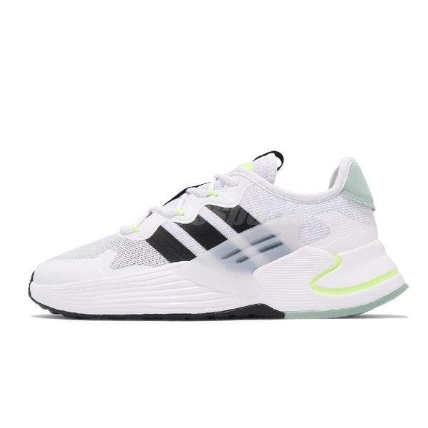 adidas 慢跑鞋 Roamer 白 黑 螢光黃 Neo 愛迪達 基本款 男鞋 運動鞋 【ACS】 FY6049