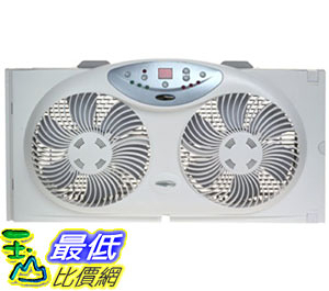 [105美國直購] 扇窗用遙控器 Bionaire Twin Reversible Airflow Window Fan with Remote Control BW2300