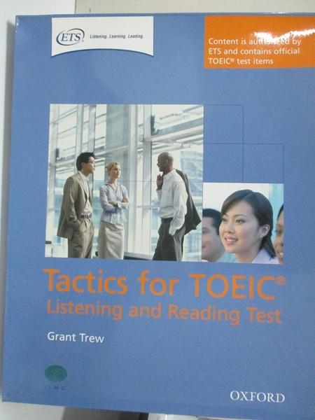 【書寶二手書T6/語言學習_I9T】Tactics for Toeic: Listening and Reading Pack_Trew, Grant