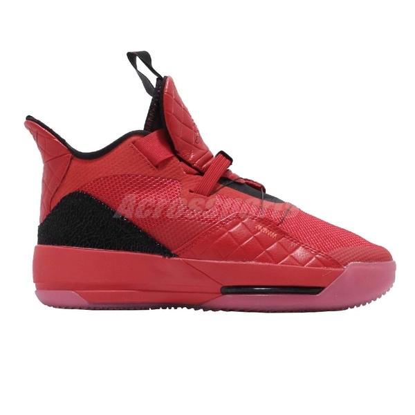Nike Air Jordan XXXIII GS University Red 紅 黑 喬丹 33代 女鞋 大童鞋 籃球鞋 AJ33【PUMP306】 AQ9244-600