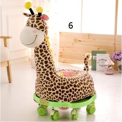可愛卡通毛絨玩具玩偶兒童小沙發滑輪車(2號)-炫彩腳丫折扣店