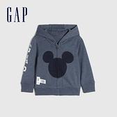 Gap嬰兒 Gap x Disney 迪士尼系列聯名可愛運動連帽外套 909429-灰藍色