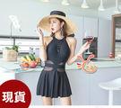 草魚妹-G356泳衣中露胸游泳衣泳裝比基尼加大泳衣M-2XL正品,售價980元