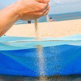 漏沙海灘墊戶外旅行自駕游海邊便攜沙灘墊