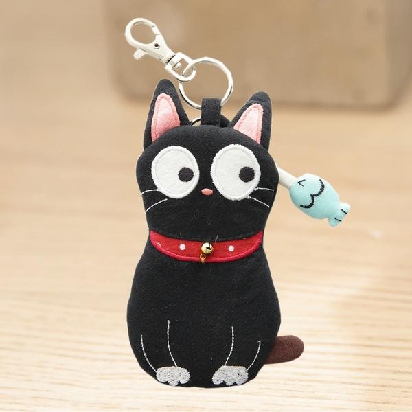 Kiro貓‧小黑貓 拼布包 拉鍊 小物收納/鑰匙零錢包【221817】