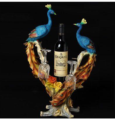 歐式時尚創意葡萄紅酒架D68