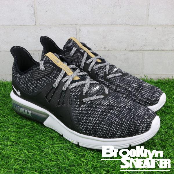 best website 1d47c 1ad52 NIKE AIR MAX SEQUENT 3 黑白灰 雪花 氣墊 慢跑鞋 (布魯克林) 2018/3月 921694-011