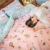 床包 / 雙人【粉紅戀愛款-爽爽貓的熱戀】含兩件枕套  100%精梳棉  戀家小舖台灣製AAL201