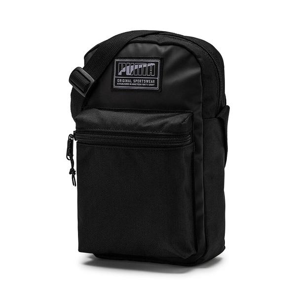 PUMA 小側背包 ACADEMY 全黑 小LOGO 基本款 (布魯克林) 07573401