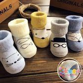 新生嬰兒襪子春秋冬季棉質加厚松口可愛0-3個月6-12男女寶寶襪子