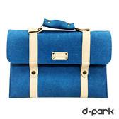 ▲福利品▼ d-park Macbook Air 13吋仿羊毛手提式筆電包-天藍(上蓋瑕疵)