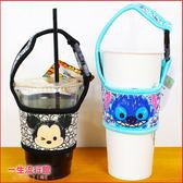《現貨》迪士尼 TSUM 米奇 史迪奇 正版 可愛 手提 尼龍 環保 飲料袋 杯套 手搖飲料杯套袋 B19090